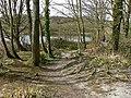 Cosmeston Lakes - path to west lake hide - geograph.org.uk - 1219306.jpg