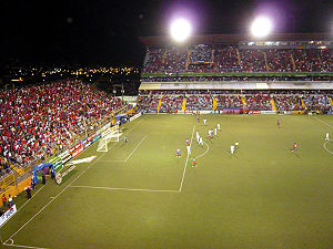 Das Estadio Ricardo Saprissa Aymá in Tibás