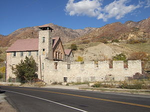 Cottonwood Heights, Utah - The old Cottonwood Paper Mill built in 1883 by the Deseret News in Cottonwood Heights.
