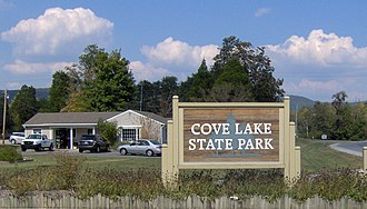 Cove Lake State Park - Park entrance