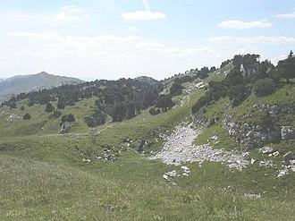 Crêt de la Neige - Summit of the Crêt de la Neige, with Le Reculet in the background