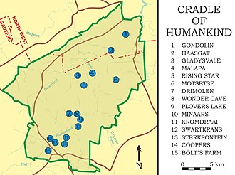 Cradle of Humankind - Important sites