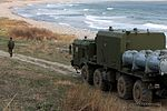 Crews of the coastal missile system Bal of the Pacific Fleet perform training firings 07.jpg