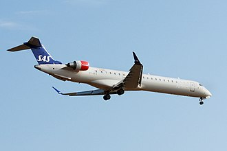Economy of Canada -  Bombardier Aerospace is the 3rd largest manufacturer of commercial aircraft in the world. Pictured here is a CRJ-900 airplane of Scandinavian Airlines (Y-KFA) built in Canada