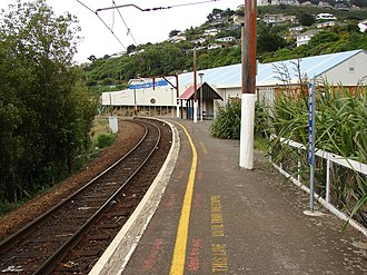 Crofton Downs railway station - Crofton Downs railway station looking south in the direction of Wellington before it was updated in 2010.