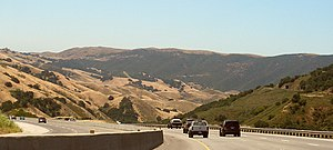 U.S. Route 101 in California - Traffic descending the Cuesta Grade north of San Luis Obispo