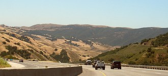 U.S. Route 101 in California - Traffic descending the Cuesta Grade north of San Luis Obispo