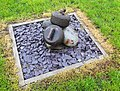 Curling stones in the park, Crawfordjohn, South Lanarkshire.jpg