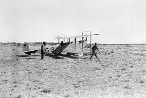 Pancho Villa Expedition -  S.C. No. 53, a JN3 of the 1st Aero Squadron, at Casas Grandes, Mexico