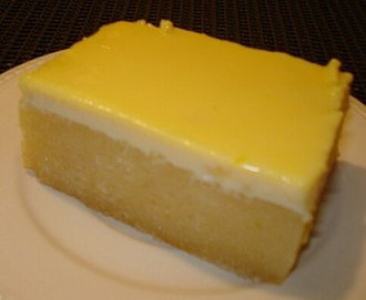 Cassava cake - Cassava cake with a thick milk-based custard topping