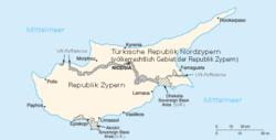Karte von Zypern