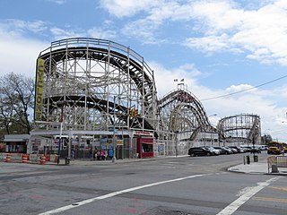 Coney Island Cyclone Historic roller coaster in Coney Island, Brooklyn