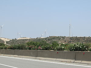 Energy in Cyprus - A wind farm in Cyprus