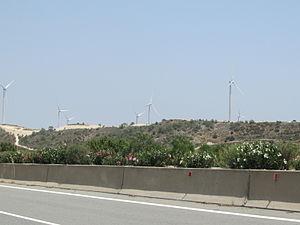 Energy in Cyprus - A wind farm in Cyprus