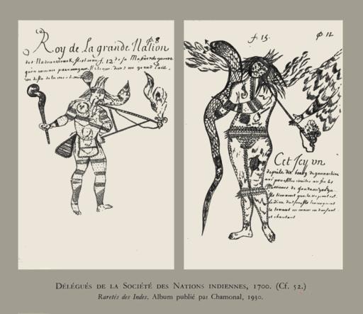Délégués de la Société des Nations Indiennes, 1700