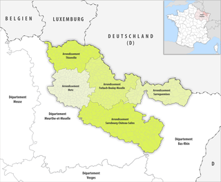 Arrondissements of the Moselle department
