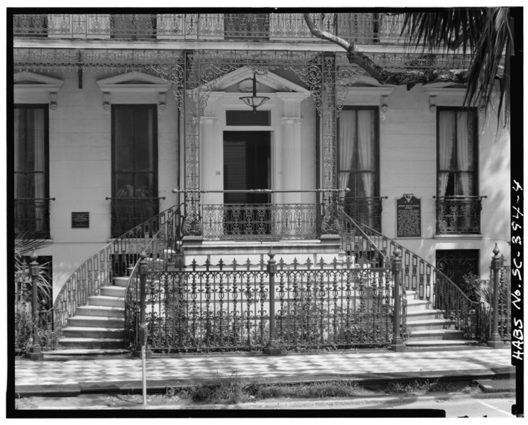 Front Elevation Stairs : File double entry stairs south front elevation note