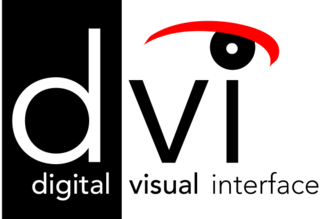 Digital Visual Interface standard for transmitting digital video to a display (such as a monitor)
