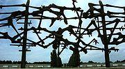 Μνημείο για τα θύματα μπροστά στο μουσείο που λειτουργεί σήμερα στο πρώην στρατόπεδο Νταχάου