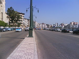 Damietta's Corniche along the نیل.