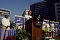 Dan Quayle speaking at the Race for the Cure 1990.jpg