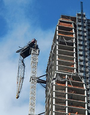 Effects of Hurricane Sandy in New York - Crane collapse at One57 on 57th Street
