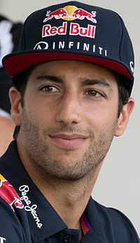 Ricciardo under Malaysias Grand Prix 2015.