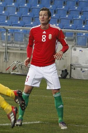 Dániel Tőzsér - Tőzsér playing for Hungary in 2011.