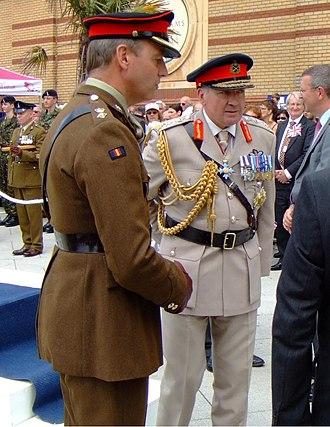 Richard Dannatt - Dannatt (in the stone-coloured uniform) as CGS at an Armed Forces Day parade in Southend, Essex