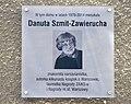 Danuta Szmit-Zawierucha tablica pamiątkowa ul. Brechta 9.jpg