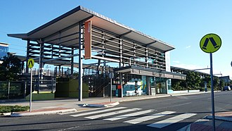 Darra railway station - Station front in April 2014