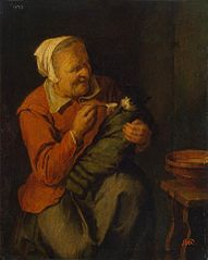 Peasant Woman with a Cat