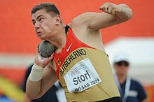 David Storl durante i campionati europei juniores di Novi Sad 2009.