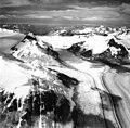 Dawes Glacier, tidewater glacier with medial moraines, August 29, 1971 (GLACIERS 5395).jpg