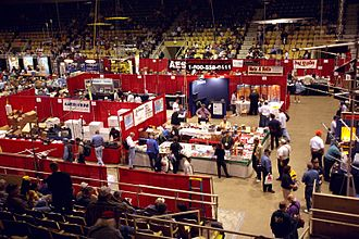 Hara Arena - Interior of the arena during the 2003 Hamvention.