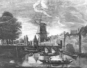 De Tolsteegpoort met omgeving te Utrecht