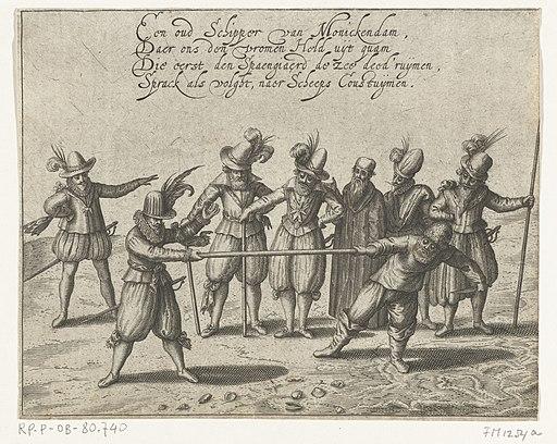 De strijd om de Gouden Stok, 1608, RP-P-OB-80.740
