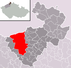 Location of Děčín
