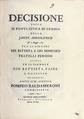 Decisione della M. Ruota civile di Genova, 1785 - 186.tif