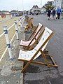 Deck chairs on The Esplanade, Weymouth (geograph 4557233).jpg