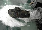 Defense.gov News Photo 100707-N-8283S-116 - A U.S. Marine Corps amphibious assault vehicle launches from the well deck of the amphibious assault ship USS Boxer LHD 4 in the Pacific Ocean on.jpg