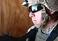 Defense.gov News Photo 110530-M-1012C-184 - A Marine with Company B 1st Battalion 6th Marine Regiment 2nd Marine Division stands guard during a cordon and search exercise at the military.jpg