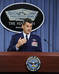 Defense.gov News Photo 110915-D-TX536-001 - Commander 9th Air and Space Expeditionary Task Force-Iraq Maj. Gen. Russ Handy U.S Air Force briefs the press in the Pentagon in Arlington Va..jpg
