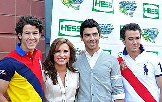 Don't Forget - Lovato starred in Camp Rock with the Jonas Brothers, who helped her during the production and writing process of Don't Forget