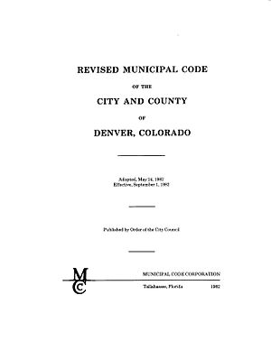 Law of Colorado - Title page of the Denver Revised Municipal Code