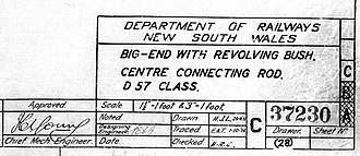 Department of Railways New South Wales - Image: Department of Railways NSW draing title block