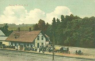 Bradford, New Hampshire - Image: Depot, Bradford, NH
