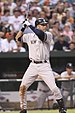 English: New York Yankees Derek Jeter batting ...