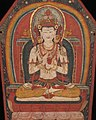 Detail, 14th-century painted art on Buddhist crown of Tibet, - MET DP12791-001 (cropped).jpg