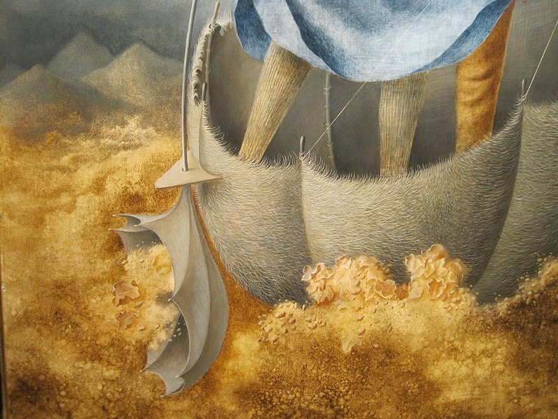 "File:Detail from ""La Huida"" Remedios Varo 1961 (18813895620).jpg"